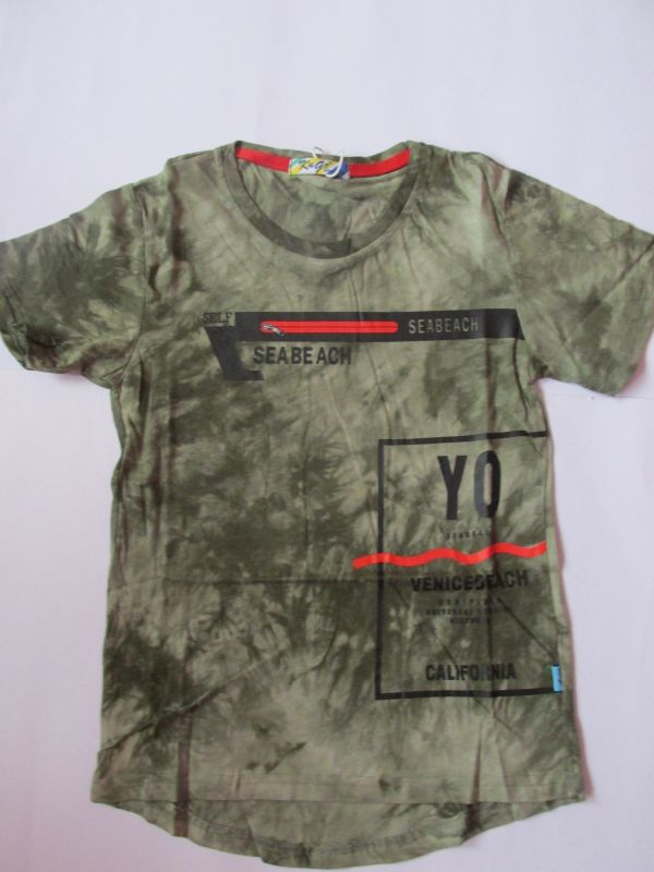 Chlapecké tričko maskáč - khaki KUGO