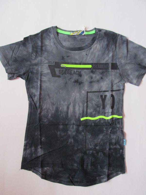 Chlapecké tričko maskáč - šedo-modré KUGO