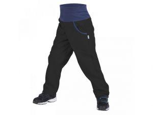 Dětské softshellové kalhoty zateplené Unuo New černé  98/104-104/110
