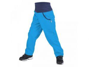 Dětské softshellové kalhoty zateplené Unuo New tyrkysové 98/104-110/116