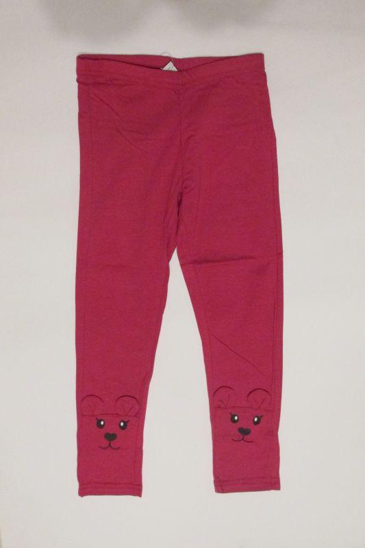 Dívčí legíny Wolf zvířátko - růžové vel. 86-104
