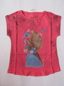 Dívčí tričko holka - jahodové