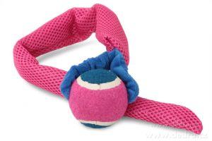 Házedlo-aportovací hračka pro psy růžové Dedra