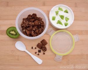Jogurtovník - dóza se lžičkou CVAK&CVAK 450 ml Dedra