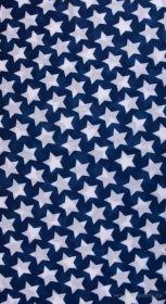 Multifunkční šátek nejen na sport - modrý s hvězdami