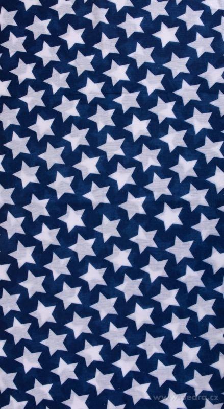 Dedra Multifunkční šátek nejen na sport - modrý s hvězdami