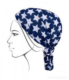 Multifunkční šátek nejen na sport - modrý s hvězdami Dedra