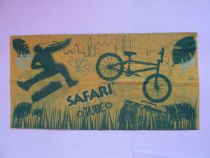 Multifunkční šátek nejen na sport - zeleno-žlutý safari