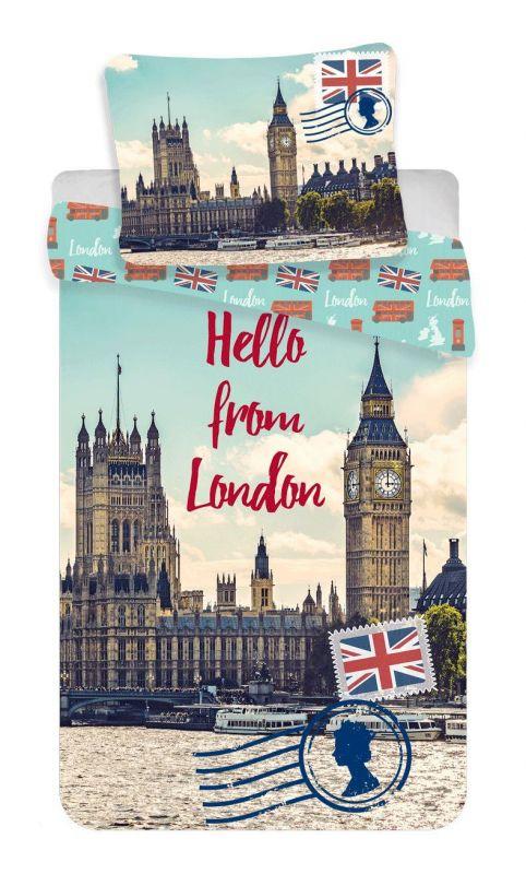 Povlečení bavlna fototisk - London Hello 140x200 90x70