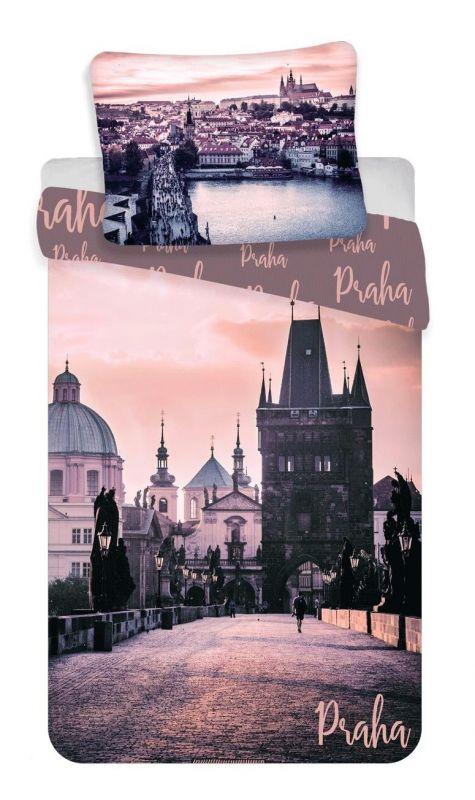 Povlečení bavlna fototisk - Praha Romantique 140x200 90x70 Jerry Fabrics