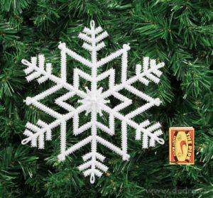 Vánoční ozdoba - 3ks sněhově bílé vločky Dedra