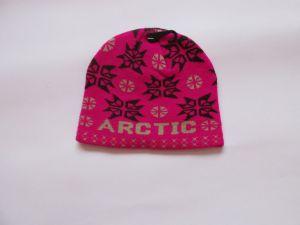 Zimní čepice arctic - fuchsiovo černá