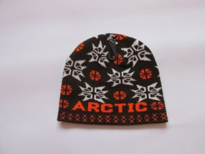 Zimní čepice arctic - hnědo-oranžová