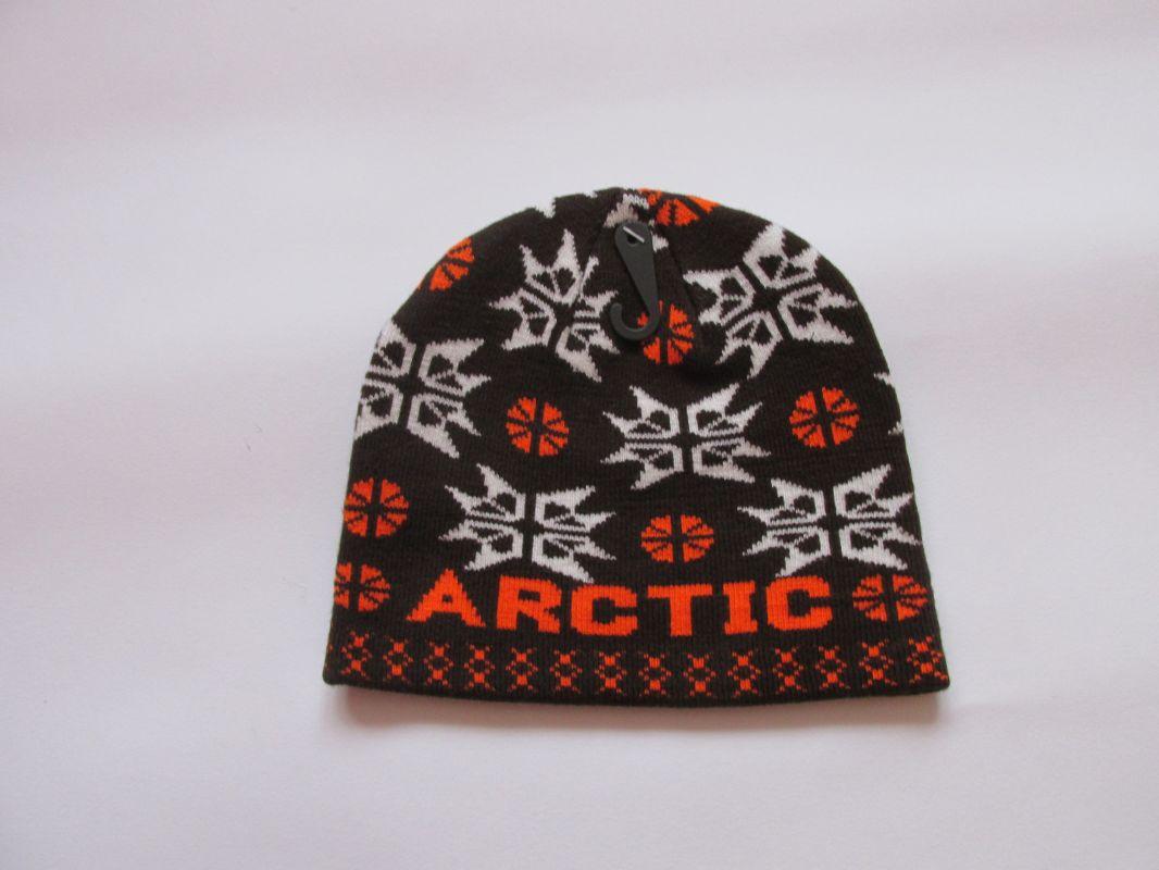 Zimní čepice arctic - hnědo-oranžová ECHT