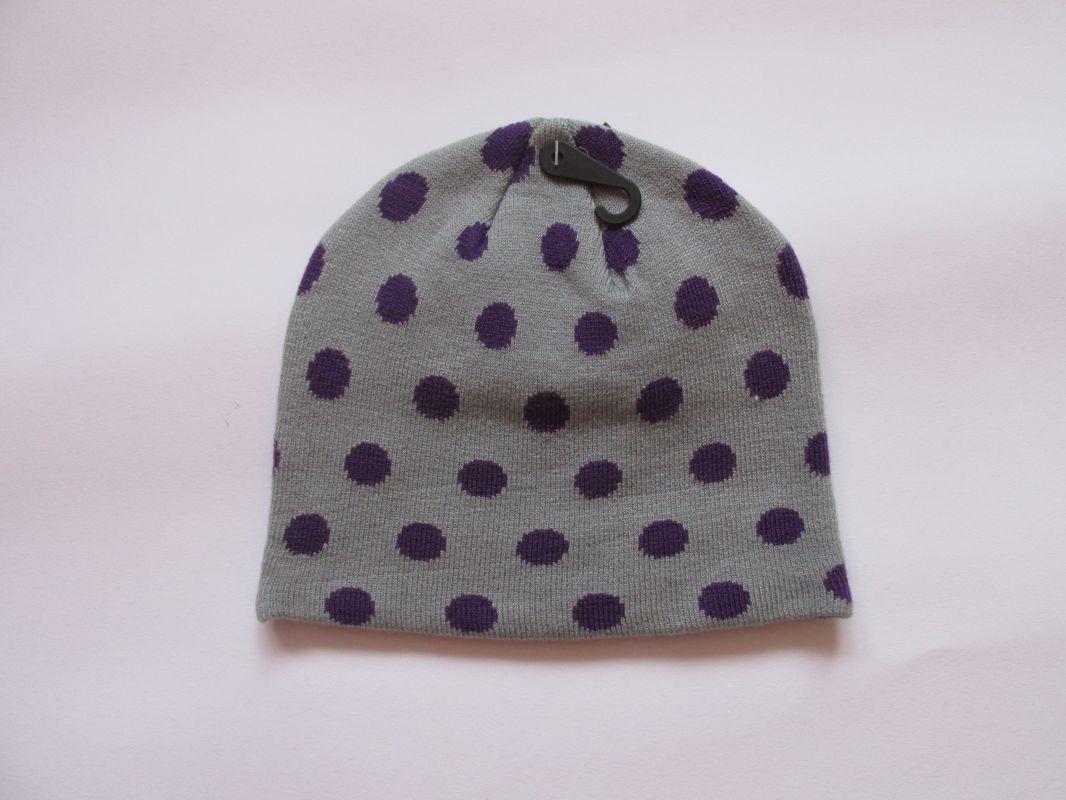 Zimní čepice puntík - šedá ECHT