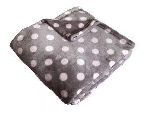 Super soft deka Dadka - Puntík růžový/béžová 150/100cm