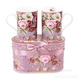 Porcelánový hrnek v dárkovém boxu růžový
