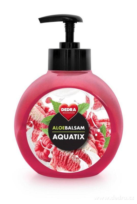ALOEBALSAM AQUATIX koncentrát na ruční mytí nádobí - malina se smetanou 500ml s pumpičkou Dedra