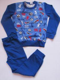 Chlapecké pyžamo Fotbal dlouhý rukáv, vel.104 Smaragd