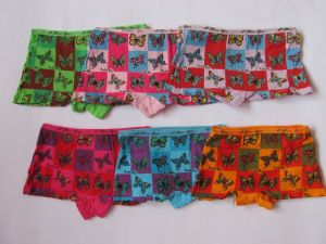 Dívčí spodní kalhotky s nohavičkou Motýl 6-8let Elevek