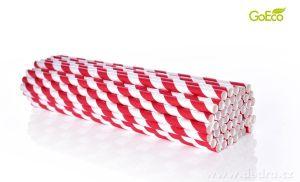 Eko-slámky papírové 50ks červené