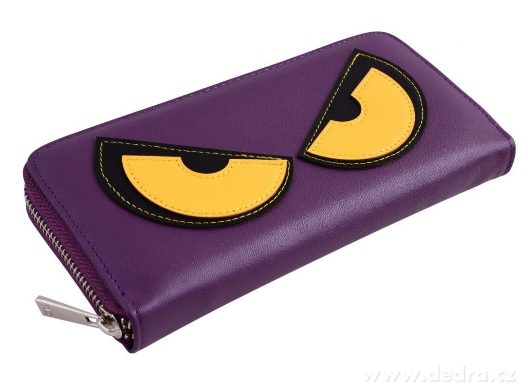 Peněženka z ekokůže Rebelito - fialová