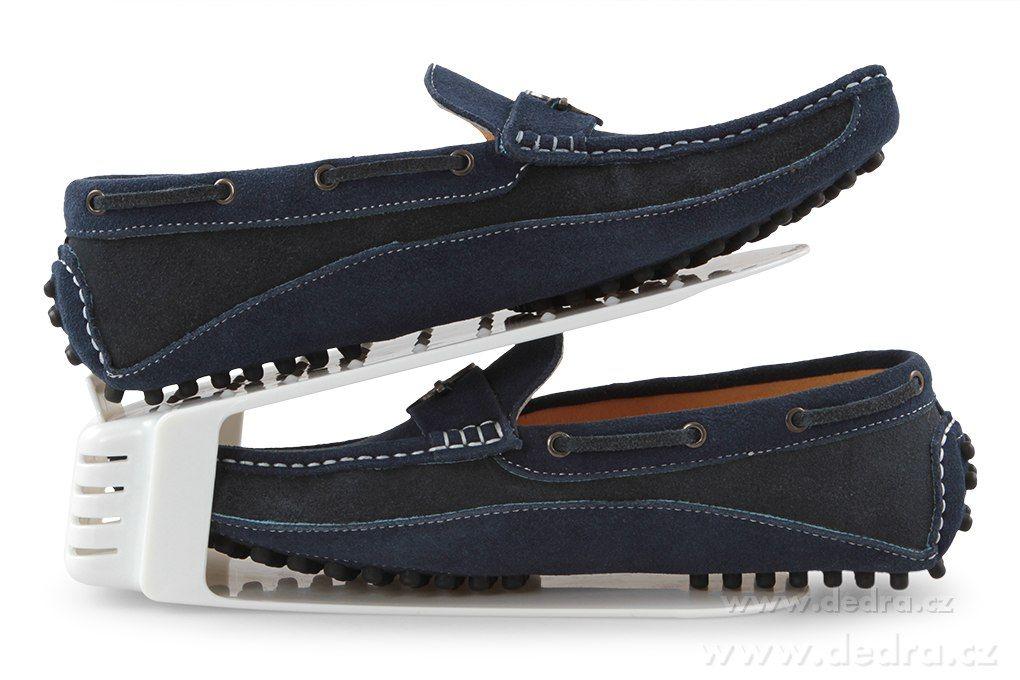 Plastový organizér na boty Botoštos - bílý Dedra