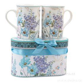 Porcelánový hrnek v dárkovém boxu modrý