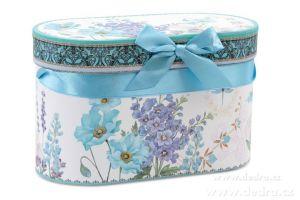 Porcelánový hrnek v dárkovém boxu modrý Dedra