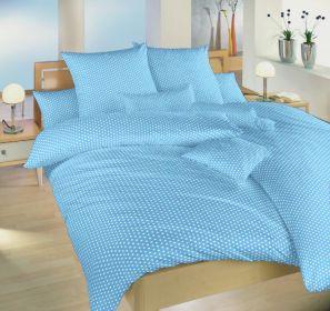 Povlečení bavlna Dadka Vracov - Hvězdička bílá na světle modrém 140x200  90x70