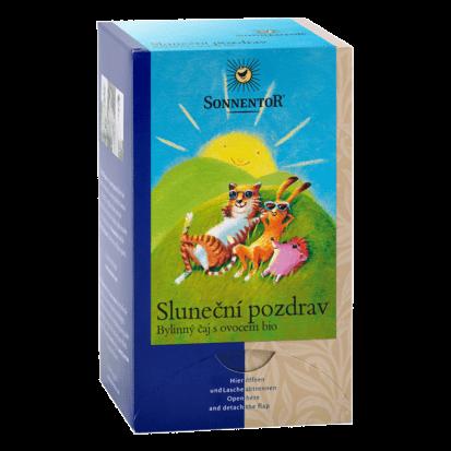 Sluneční pozdrav čaj bio 45g porc. Sonnentor, ovocný čaj s bylinkami