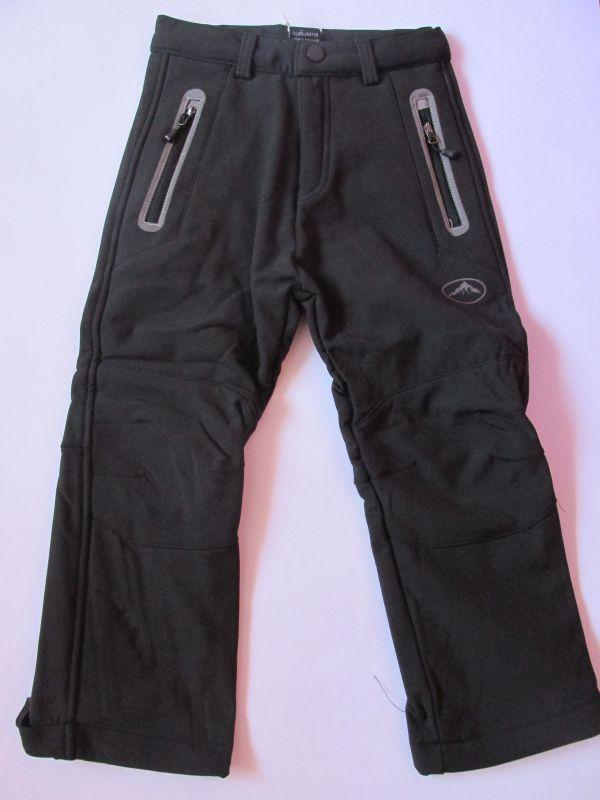 Softshellové kalhoty zateplené Kugo černé/šedé