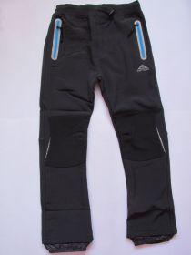 Softshellové kalhoty zateplené Kugo černé (sv.modré zipy)