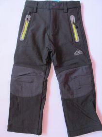 Softshellové kalhoty zateplené Kugo černé/žluté