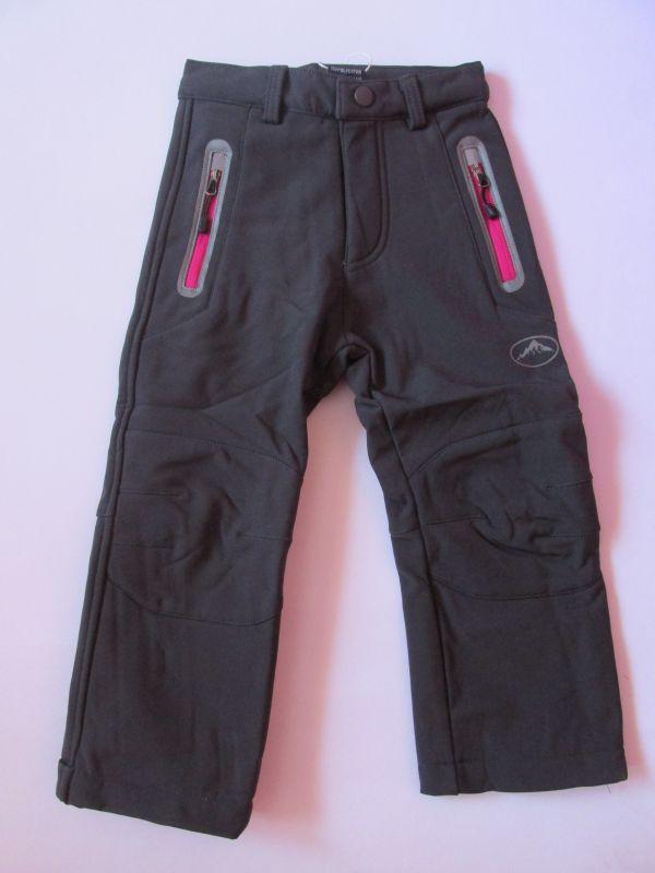Softshellové kalhoty zateplené Kugo tmavě šedé/růžové