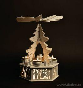Vánoční dekorace - dřevěný adventní kolotoč