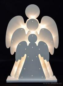 Vánoční dekorace - tři svítící andělé