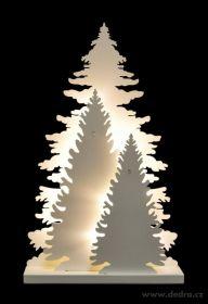 Vánoční dekorace - tři svítící stromky