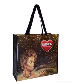 Velká taška s laminací City bag - gold