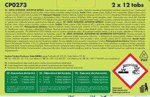 Aktivátor septiků - Septic activator 1 + 1 2*12 tablet Dedra