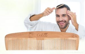 Bambusový hřeben na vlasy GoEco 20cm Dedra