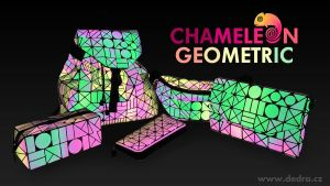 Batoh s klopou CHAMELEON GEOMETRIC reflexně svítící při dopadu světla Dedra