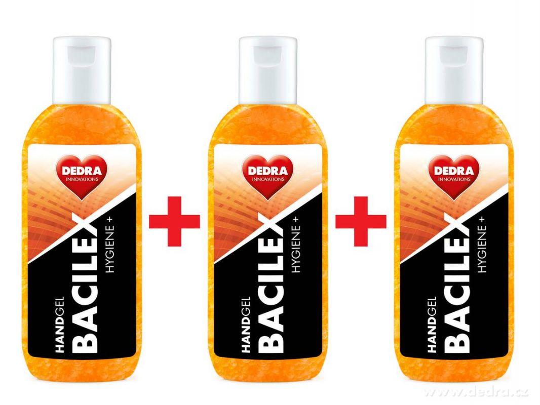 Čisticí gel na ruce BACILEX s vysokým obsahem alkoholu sada 3ks Dedra