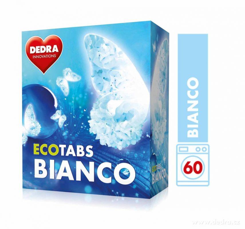 Dedra Prací tablety na bílé prádlo ECOTABS BIANCO koncentrované 60 ks