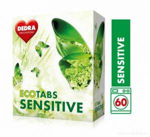 Dedra Prací tablety na bílé prádlo ECOTABS SENSITIVE koncentrované 60 ks