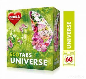 Dedra Prací tablety na bílé i barevné prádlo ECOTABS UNIVERSE koncentrované 60 ks