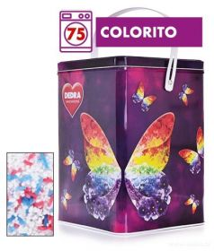 Dedra prášek na barevné prádlo ECORAPID COLORITO + dóza ZDARMA, 75 praní