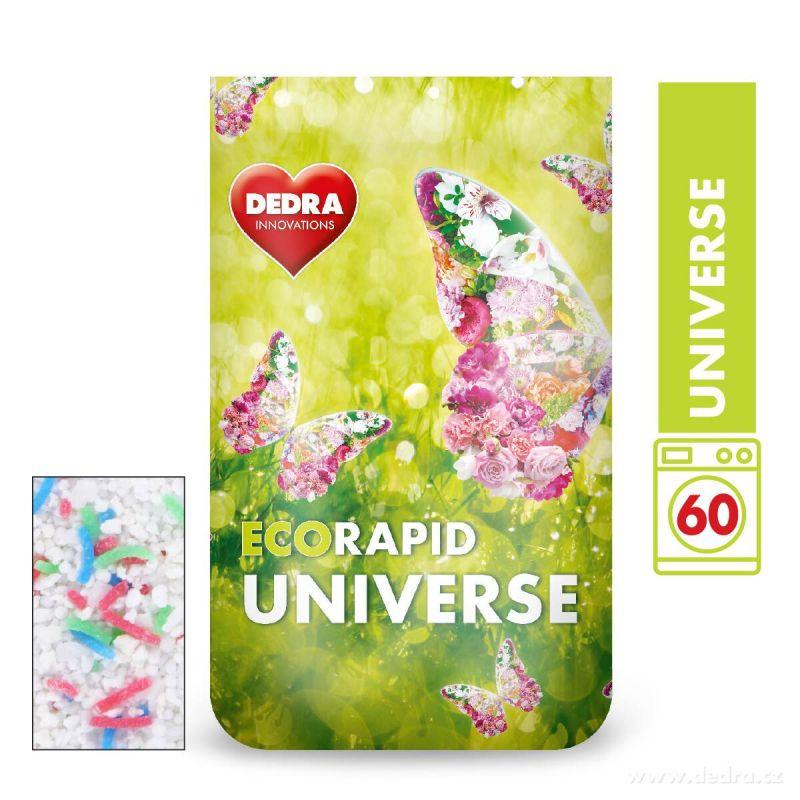 Dedra prášek na bílé prádlo ECORAPID UNIVERSE 60 praní