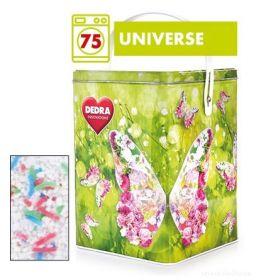 Dedra prášek na bílé prádlo ECORAPID UNIVERSE + dóza ZDARMA, 75 praní