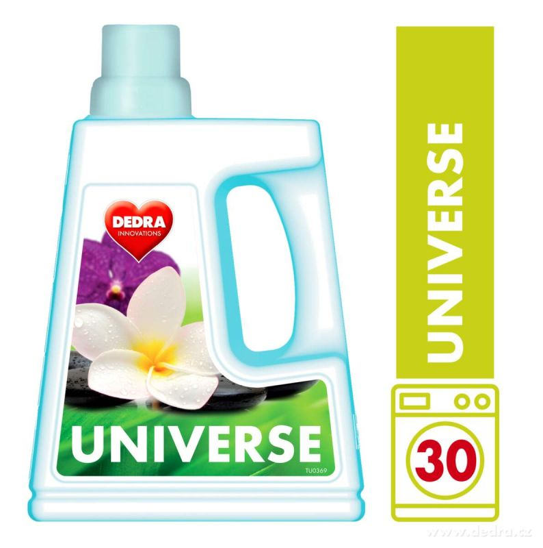 UNIVERSE gel na praní bílého i barevného prádla 1500ml Dedra